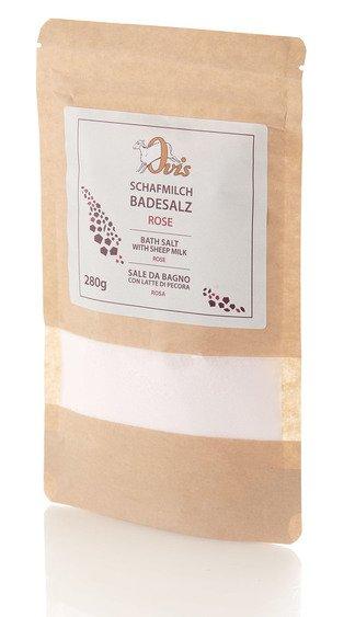 Schafmilch-Badesalz Rose im Glas 280 g