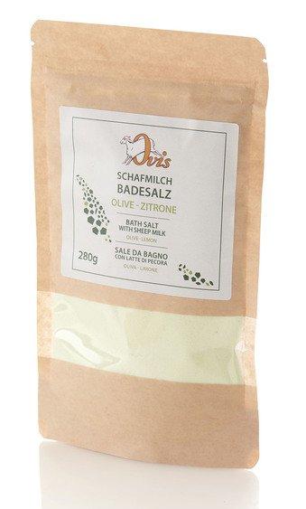 Schafmilch-Badesalz Olive-Zitrus im Glas 280g