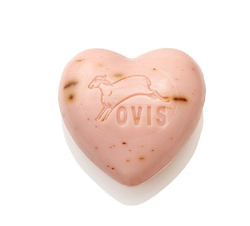 Ovis-Seife Herz Rose 6,5 cm 75 g