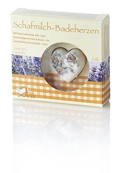 Ovis Badeherzen Lavendel 3 cm 18 g Box= 2 Stk.