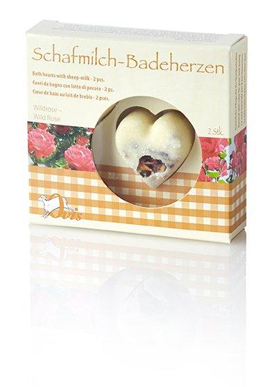 Ovis Badeherzen Wildrose 3 cm 18 g Box= 2 Stk.