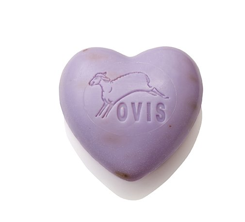 Ovis-Seife Herz Lavendel 6,5 cm 75 g